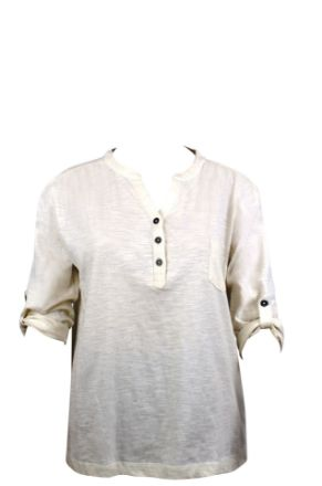 Picture of ladies Y neck t shirt
